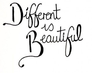 Different is beautiful, een quote die zegt dat anders ook mooi is. Je ...