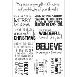 Kaiser CHRISTMAS QUOTES Clear Stamps