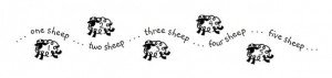 """This """"counting sheep"""" decal is just too cute! It's available ..."""