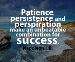 quotes on patience and perseverance