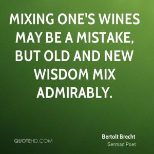Bertolt Brecht Wisdom Quotes
