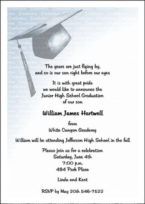 8th Grade Graduation Invitations