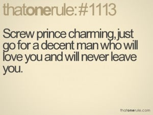 Screw Prince Charming