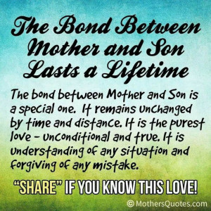 Mother-son bond