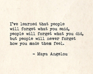 ... Quotes For Healthcare Workers ~ Popular items for maya angelou quote