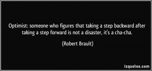 who figures that taking a step backward after taking a step forward ...