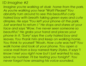 Harry Styles Imagines Dirty Long Stories