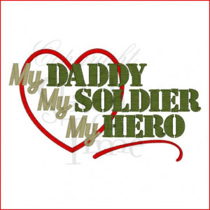 SAMPLE SALE My Daddy My Soldier My Hero by TheLittleJoyShop, $14.00