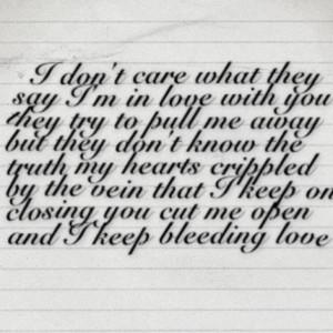 Leona Lewis Bleeding Love Quotes Bleeding love - leona lewis