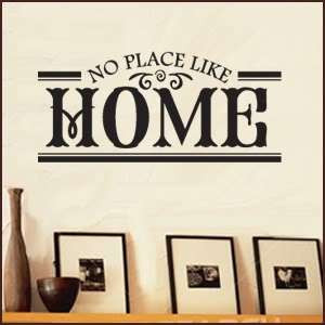 NO PLACE LIKE HOME Vinyl Wall Art Quotes Sayings Word