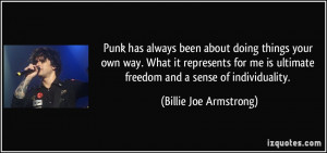Punk has always been about doing things your own way. What it ...