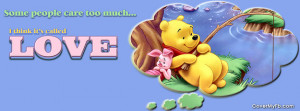 Pooh Love Quote Facebook Cover