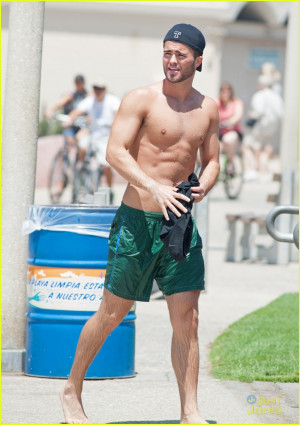 Spencer Boldman Shirtless on the beach!