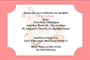 images of personalised first communion invitations daughter design 1 ...