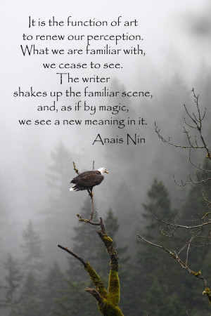 "to renew our perception . . ."" -- Anais Nin -- For more quotations ..."