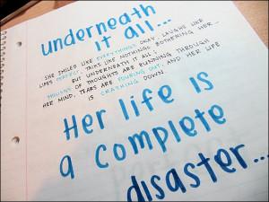 Handwritten quotes.