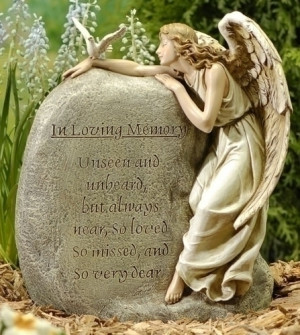 In Loving Memory Memorial Angel - Sympathy Inspirational Gift