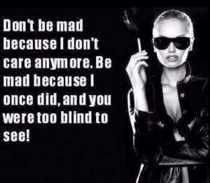 Don't be mad!