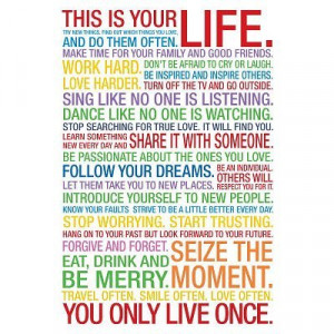 This Is Your Life Motivational Quote Poster – 13×19 custom fit with ...