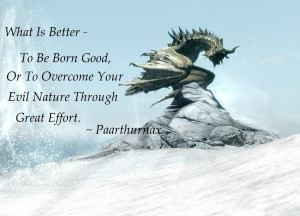 Skyrim Paarthurnax Quotes Skyrim by onlysekhmet