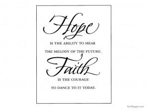 Hope Faith Wallpaper