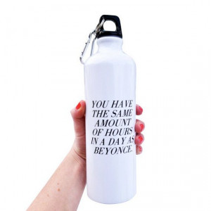 Inspiration Quote Water Bottle 26 oz. Sports by SweatyWisdom, $16.00