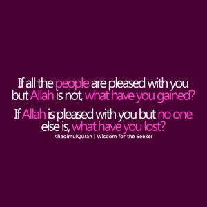 Pleasure Of ALLAH Islamic Quotes WALLPAPER BACKGROUND