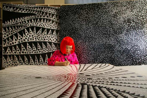 Source : Yayoi Kusama , Yayoi Kusama au Centre Pompidou