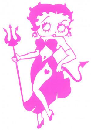devilish betty boop angel boop