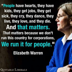 Elizabeth Warren quote.