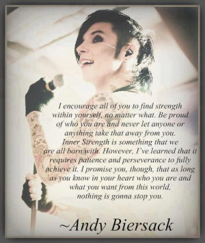 Andy Biersack strength quote