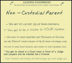 Being a non custodial parent means... Thank God I've passed this stage ...