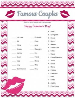 Fun Valentine's Day Printable Games