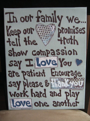 Sayings Sign Love One Another In Our Family Canvas by AntonMurals,