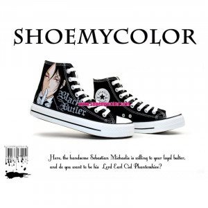 ... Hand Painted High Top Cartoon Canvas Shoes for Girls, Boys, or Couples