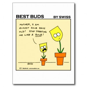 Funny Flower Gardening Cartoon Postcard
