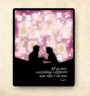 tangled disney princess inspirational quote poster... 11x14
