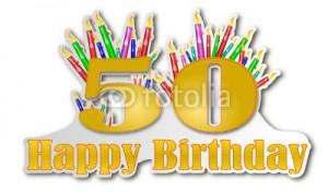 Vector: Happy Birthday 50 Years