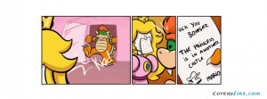 Comics Mario Princess Funny Peach Bowser Facebook Timeline Cover