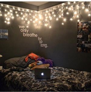 ... Lights, Room Ideas, Dreams Room, Roomideas, Dark Wall, Bedrooms Ideas