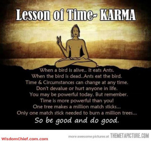 Funny Life Lesson Quotes Karma lesson delivered to us