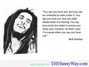 ... You Love Rain,But You Use an Umbrella to Walk Under It ~ Funny Quote
