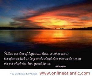 Happiness quotes about one door of happiness