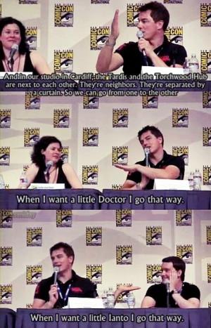 Torchwood joke John Barrowman, Can I please just be a female Captain ...