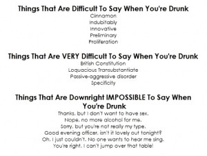 things that are x to say when drunk