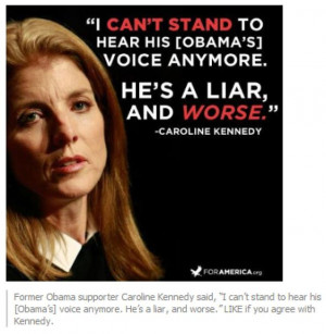 Caroline Kennedy on Barack Obama - Via Facebook