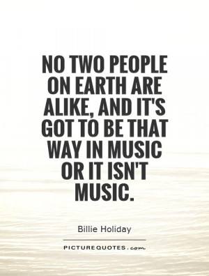 Music Quotes Billie Holiday Quotes