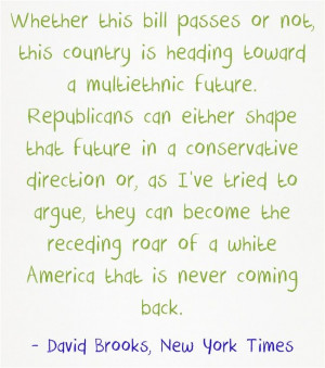 Quote Of The Day: David Brooks Hits A Home Run On Immigration Reform