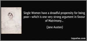 Single Women have a dreadful propensity for being poor—which is one ...