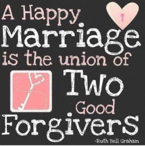 Marriage = Forgiveness
